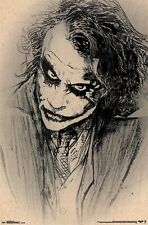 DC COMICS DARK KNIGHT BATMAN JOKER HEATH LEDGER SKETCH POSTER PRINT NEW 22x34