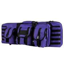 "NcSTAR 36"" Double Carbine Padded Carrying Case PALS MOLLE Webbing Purple Black"