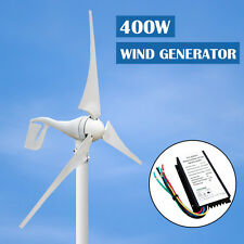 400W Wind Turbine Generator 3 Blades+ Hybrid 12V/24V Controller for 12V Battery