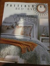 POTTERY BARN BED AND BATH EARLY SUMMER 2015 CATALOG MAKEOVER YOUR BED BRAND NEW