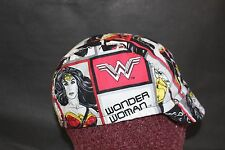 CYCLING CAP WONDER WOMAN COMIC COTTON HANDMADE  ONE SIZE & ANY SIZE