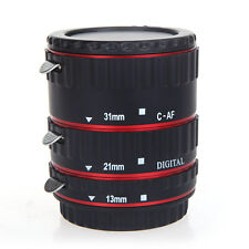Red TTL Auto Focus AF Macro Extension Tube Ring for Canon Camera EF & EF-S Lens