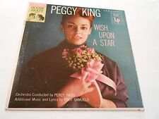 """PEGGY KING WHEN YOU WISH UPON A STAR ,6 EYE .COL., 10""""LP 33, C=8.4,R ABOUT M-"""