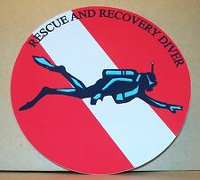 Scuba Diver Rescue and Recovery vinyl sticker personalised free.