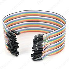 40PCS Female to Female Jumper Wire Color Dupont Cable Wire 2.54mm 1P-1P 20cm