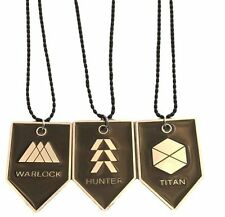 "Destiny WARLOCK, TITAN, HUNTER Division Dog Tag/ Pendant  SET OF 3 On 22"" CHAIN"