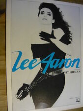 LEE AARON - MAGAZINE CUTTING (FULL PAGE ADVERT) (REF R9A)