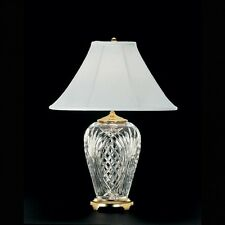 "NEW Waterford Crystal KILKENNY Brass 29"" Table Lamp - FREE SHIPPING 1st Quality!"