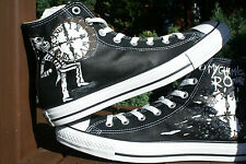 My chemical romance inspiré custom hand painted high tops. made to order