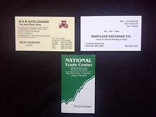 """LOT OF 3 -- VINTAGE BUSINESS CARDS -- PAWN SHOPS / PAWN BROKERS -- """"COLLECTABLE"""""""