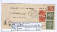 STORIA POSTALE - REPUBBLICA MULTIPLI - PIIM0066 - RACCOMANDATA - 4.00€