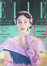 MAGAZINE ELLE N° 252 de 1950 MODE COUTURE DECOLLETES de PARIS LES MANTEAUX