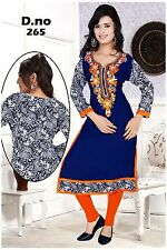 Exclusive georgette long embroderied kurti with printed back