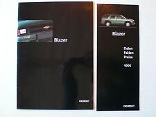 Prospekt 1995 Chevrolet Blazer, 7.1994, 18 Seiten + Daten-/Preisliste