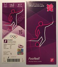 LONDON 2012 TICKET FOOTBALL MENS FINAL WEMBLEY MEXICO GOLD & SPECTATOR GUIDE