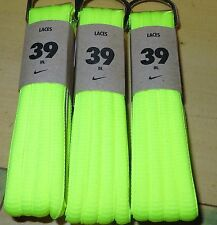 """NIKE 39"""" OVAL SHOELACES VOLT 1 PAIR NEW NEON BRIGHT YELLOW FOR SNEAKERS LACES"""