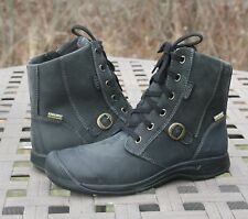 KEEN REISEN ZIP WP FG US 8 EU 38.5 Woman's Boot Black Leather