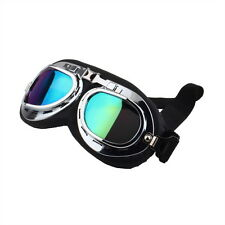 Vintage Anti-UV Motorcycle Scooter Pilot Goggles Helmet glasses Motocross UF