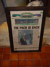 GREEN BAY PACKERS 1997 RARE NEWSPAPER ORIGINAL FRAMED THE PACK IS BACK