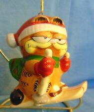 Collectable Snow Skiing Garfield Christmas Ornament by Enesco GUC FREE SHIP!