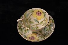 Yellow Floral-Tuscan Tea Cup & Saucer Set- Made in England (numbered)