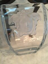 """Rosenthal Versace Medusa Lumiere Medium Crystal Frosted Glass Bowl 7"""""""