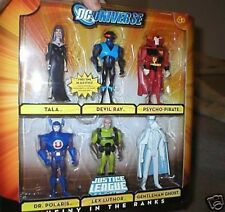 "DC UNIVERSE 6 FIGURE SET-""MUTINY IN THE RANKS"" GENTLEMANS GHOST, LEX LUTHOR,MORE"