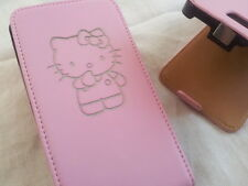 SAMSUNG Galaxy S2 i9100 HELLO KITTY PELLE ROSA FLIP PHONE Custodia COVER PELLE Carino