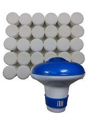 Distributore di Cloro Bromo e 30 Compresse Per Spa, Vasche Idromassaggio, Piscine