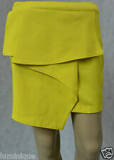 **Blossom* NWoT Wrap Waterfall Skirt 8 S Yellow Tiered Sexy Work Club Party