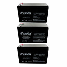 NEW 3pc 12V 8Ah SLA Battery WB1280F2 For UB1280, D5779, WKA12-8F FAST USA SHIP