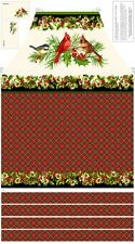 Christmas Apron Panel w/Cardinals & Holly-Home For The Holidays-Northcott