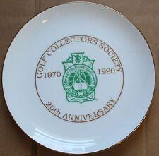 """1990 Golf Collectors Society 20th Anniversary LE 79/300 9 1/2"""" Plate w/Box"""