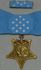 Boxed US WW1 WW2 Congressional Medal Order Badge, Navy, Ribbon bar, Rare!!