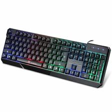 7 Colors Wired Illuminated LED Backlit PC MAC Gaming Keyboard Motospeed K70 K70L
