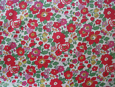 "LIBERTY OF LONDON TANA LAWN FABRIC DESIGN ""Betsy S "" 2.3 METRES (230 CM)"