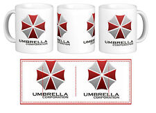 Resident Evil Umbrella Corporation Gift Mug Cup Movie Zombie Geek Gamer Retro
