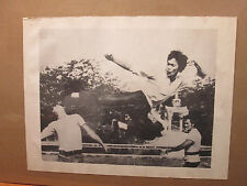 Vintage Bruce Lee original black and white SMALL poster 11634