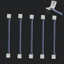 WOW - 5 X PCB 5050 RGBW 5 Pin 12mm LED Strip Lights Wire Connector Adapter Cable