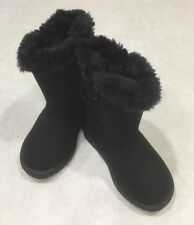 "NEW~~KIDS KORNER ""Amelia"" Toddler Girl's Black Boots~~Size 8"