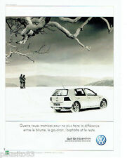 PUBLICITE ADVERTISING 046  2000  Volkswagen  la Golf  tdi 115 4 motion