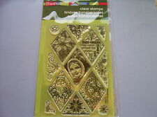 STAMPENDOUS RUBBER STAMPS CLEAR CHRISTMAS DIAMONDS SET 2014