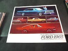 1965 Ford Sales Brochure Mustang Falcon Fairlane Ford Thunderbird
