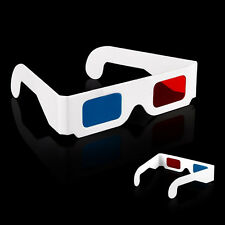 10Pcs Universal Anaglyph Cardboard Paper Blue Red Cyan 3D Glasses For Movie
