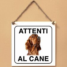 Setter irlandese Irish 3 Attenti al cane Targa piastrella cartello sign dog