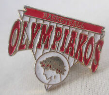 Olympiakos Basketball Metal Pin Olympiacos Piraeus Greece