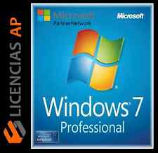 WINDOWS 7 PRO / PROFESSIONAL 32/64 KEY CLAVE 100% ORIGINAL 1 PC OFERTA!!