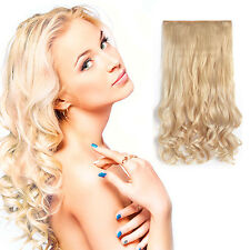 """20"""" Curly 3/4 Full Head One Piece Synthetic Hair Extensions - Pre Bleach Blonde"""