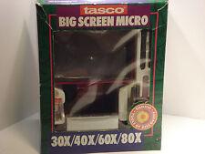 Tasco Big Screen Micro Microscope 30x/40x/60x/80x
