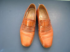 Vintage leather slip on  dress shoes made in Italy sears size 10D light brown